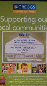 Supporting the Greggs Foundation